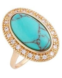 Samantha Wills - 'fields Of Gold' Ring - Turquoise - Lyst