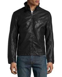 Emanuel Ungaro Fauxleather Moto Jacket Black Xl - Lyst
