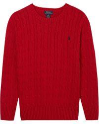 Ralph Lauren Classic Cable Knit Jumper S-xl - Lyst
