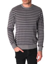 Menlook Label Seb Grey Wool-Blend Sweater - Lyst
