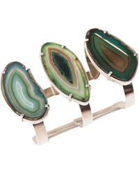 Isabel Englebert - Earth Green Agatha Cuff Silver - Lyst