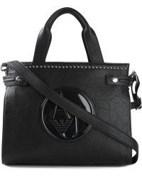 Armani Jeans Logo Embossed Tote Bag - Lyst