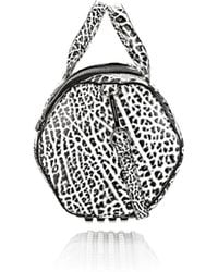 Alexander Wang Rockie Sling in Pebbled White and Black with Rhodium - Lyst