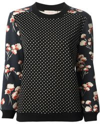 Tory Burch Printed Dotted Sweater - Lyst
