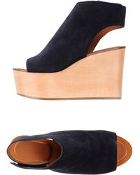 Celine Sandals blue - Lyst
