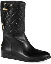 MICHAEL Michael Kors Lizzie Quilted Boots - Lyst