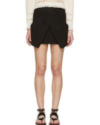 Isabel Marant Black Cross_Over Irwin Skirt - Lyst