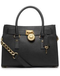 MICHAEL Michael Kors | Hamilton Saffiano-Leather Satchel | Lyst