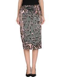 Roberto Cavalli Mid Length Skirt - Lyst