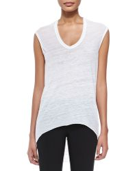 Helmut Lang Threadbare Cowl-back Tee - Lyst