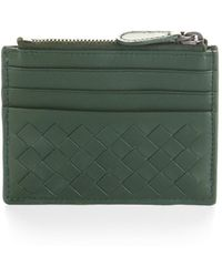 Bottega Veneta Intrecciato Leather Card Case - Lyst