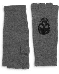 Skull Cashmere - Luther Skull Wool & Cashmere Fingerless Gloves - Lyst