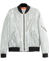 McQ by Alexander McQueen Striped Bomber - Lyst