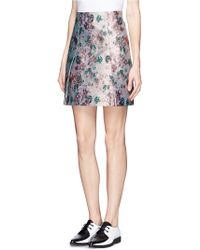 Erdem Calista Metallic Jacquard Pleat Skirt - Lyst