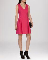 Karen Millen Dress - Texture purple - Lyst