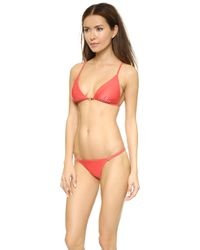 ViX Red Stairs Bikini Top - Coral Red - Lyst
