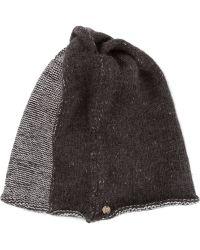 Lost & Found - Twotone Knit Hat - Lyst