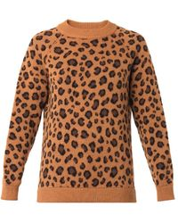 Tak.ori - Cortina Leopard Knit Sweater - Lyst