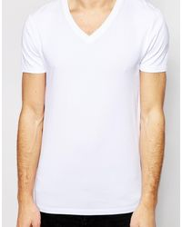 Asos Muscle Fit T-Shirt With V Neck And Stretch - Lyst