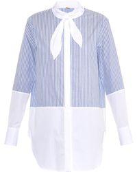 Adam Lippes Striped Cotton Shirt - Lyst