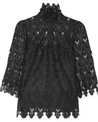 Dolce & Gabbana Crocheted Lace Turtleneck Top - Lyst