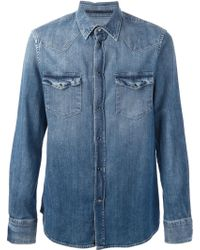 Dondup Washed Denim Shirt - Lyst