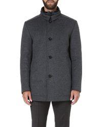 Hugo Boss Coxtan Wool and Cashmereblend Coat Grey - Lyst