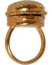 Goldie Rox - Burger Locket Ring - Lyst