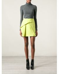 Kenzo Pleated Front Skirt - Lyst