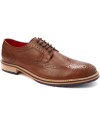 Base London Trinity Brogue Shoes - Lyst