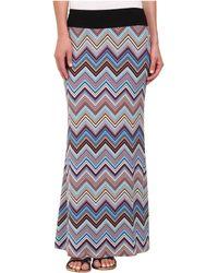 Karen Kane Miami Zig Zag Maxi Skirt multicolor - Lyst