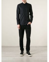 Diesel S-kat Cut-out Detail Shirt - Lyst