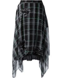 Raquel Allegra Black 'Handkerchief' Skirt - Lyst