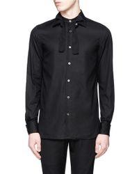 Ann Demeulemeester   Detachable Three-way Collar Cotton Dobby Stripe Shirt   Lyst