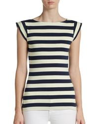 French connection Bicolored Striped Tee - Lyst