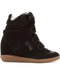 Isabel Marant Black Leather Lelie Ghillies Gladiator Sandals - Lyst