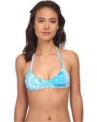 Mikoh Swimwear Uluwatu T-Strap Racerback Top blue - Lyst