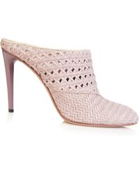 Haider Ackermann Woven-Leather Mules pink - Lyst