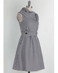 Monteau Inc - Coach Tour Dress In Houndstooth - Lyst