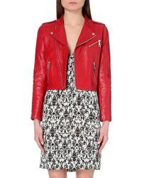 Maje Leather Biker Jacket - For Women - Lyst