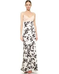 Narciso Rodriguez Watercolor Floral Silk Gown - Multi - Lyst