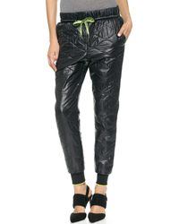 T By Alexander Wang Quilted Nylon Track Pants   - Lyst