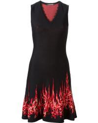 Roberto Cavalli Flared Dress - Lyst