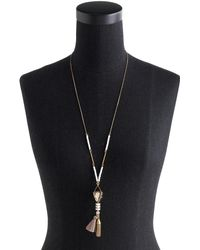 J.Crew Mixed Tassel Pendant Necklace - Lyst