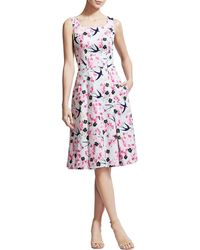 Carolina Herrera Love Letters Aline Dress - Lyst