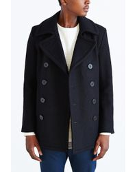 Schott Nyc 24oz Wool Slim Peacoat - Lyst