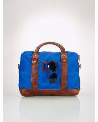 Polo Ralph Lauren Leather-trim Attach Bag - Lyst