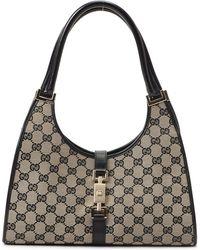 Gucci Beige & Black Shoulder Bag black - Lyst