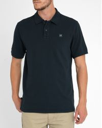 C P Company | Navy Regular Fit Short-sleeve Polo Shirt | Lyst
