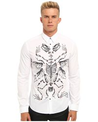 McQ by Alexander McQueen Handrawn Classic Fitted Shirt - Lyst